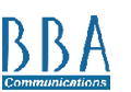 BBA Communications Logo
